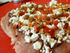petto di pollo in mosaico di papaya confit1web