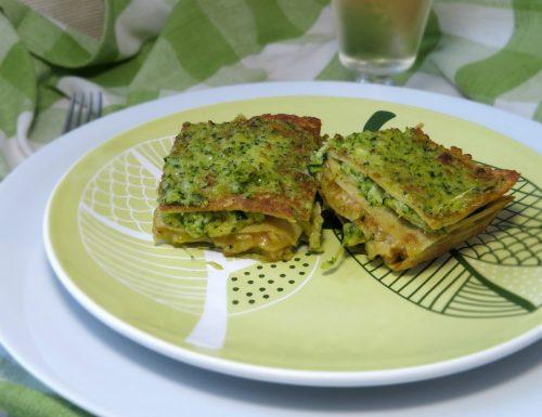 lasagne di quinoa con mozzarella e crema di zucchini