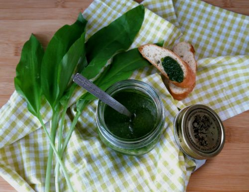 Salsa di aglio orsino e basilico fresco