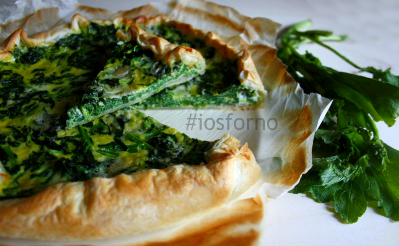 Torta salata cime di rapa e gorgonzola