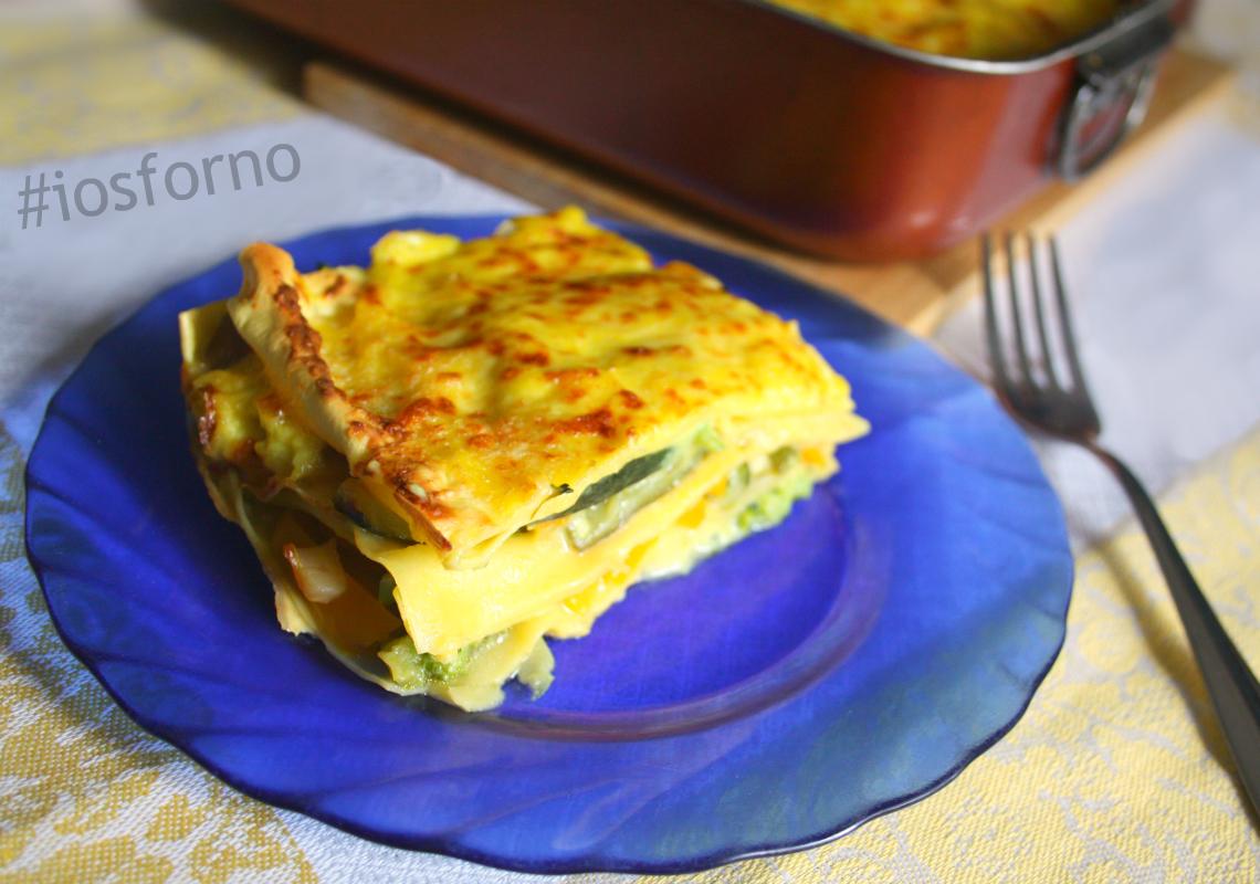 Lasagne di verdure con besciamella allo zafferano