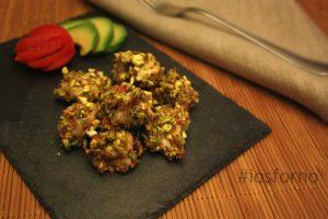 Bocconcini di pollo ai pistacchi