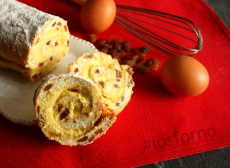 Rotolo di pan di Spagna con Crema alle Mandorle