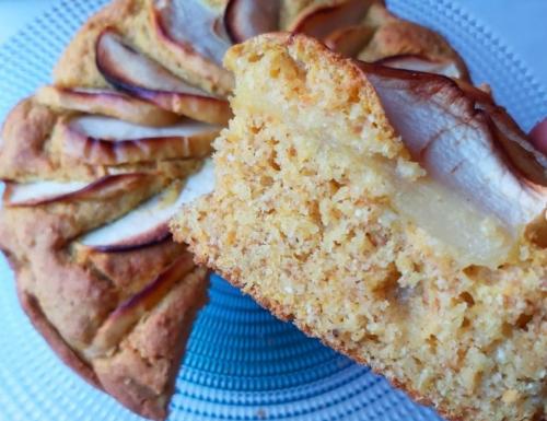 Torta vegana di mele e zucca profumata all'arancia