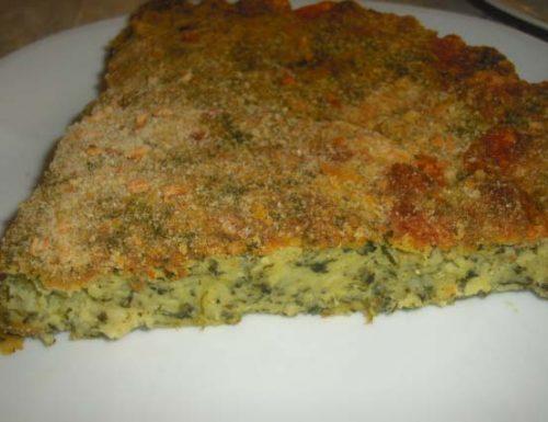 Sformato di spinaci e mozzarella