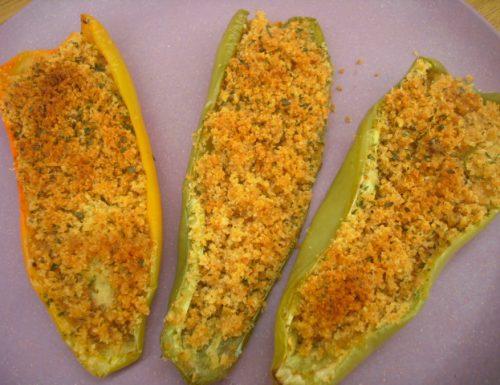 Peperoni cornetto gratinati