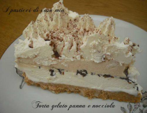 Torta gelato panna e nocciola