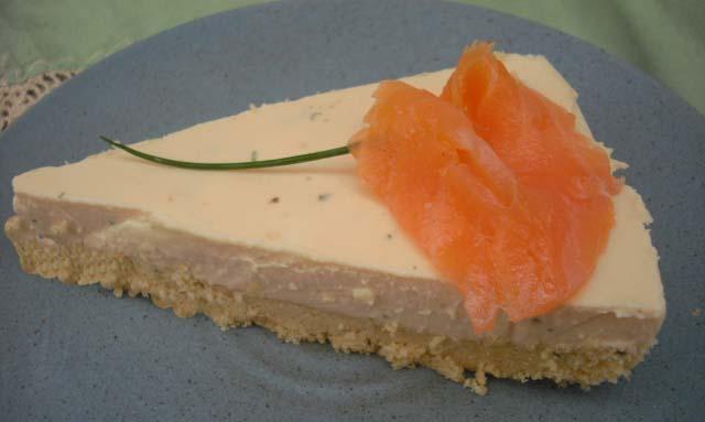 cheesecake al salmne - fetta