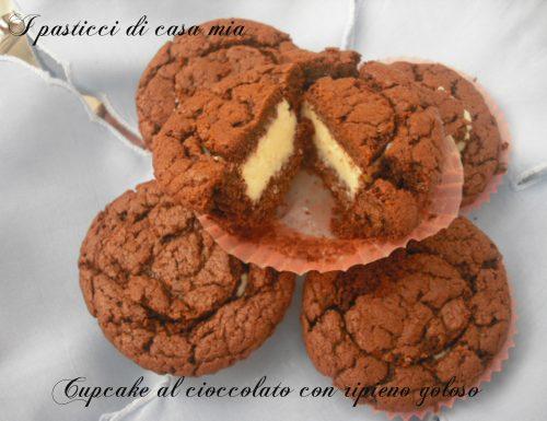 Cupcake al cioccolato con ripieno goloso