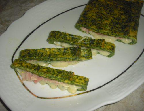 Frittata agli spinaci ripiena