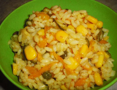 Insalata di riso vegana