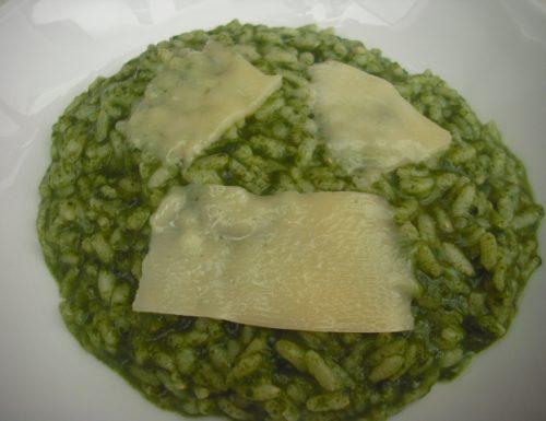 Riso spinaci e parmigiano