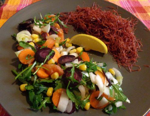 Insalata con carote viola