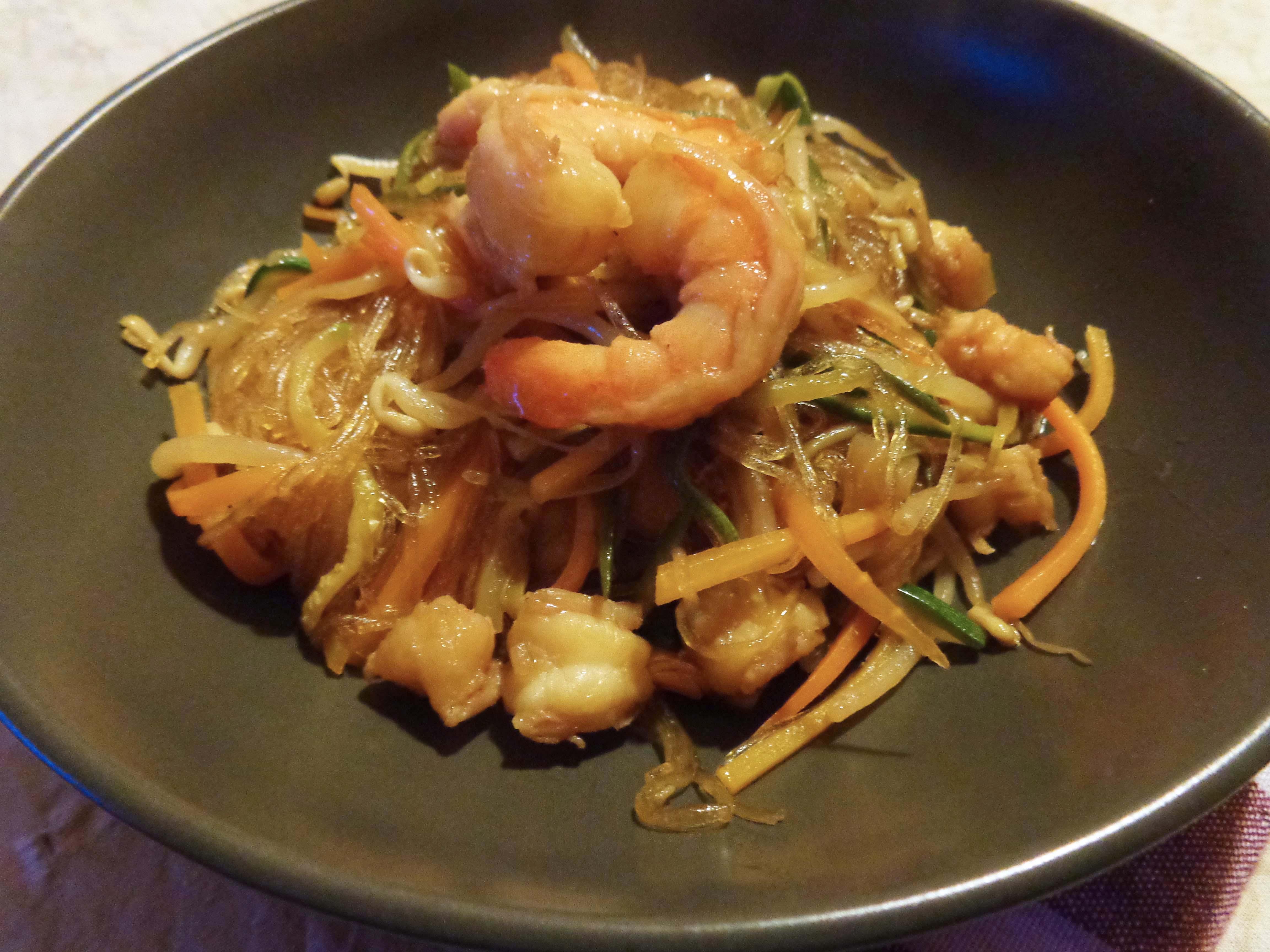 Ricetta spaghetti di soia con verdure cinesi