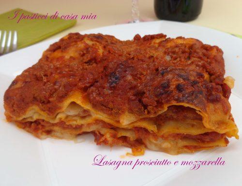Lasagna prosciutto e mozzarella