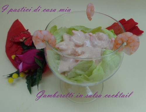 Gamberetti in salsa cocktail