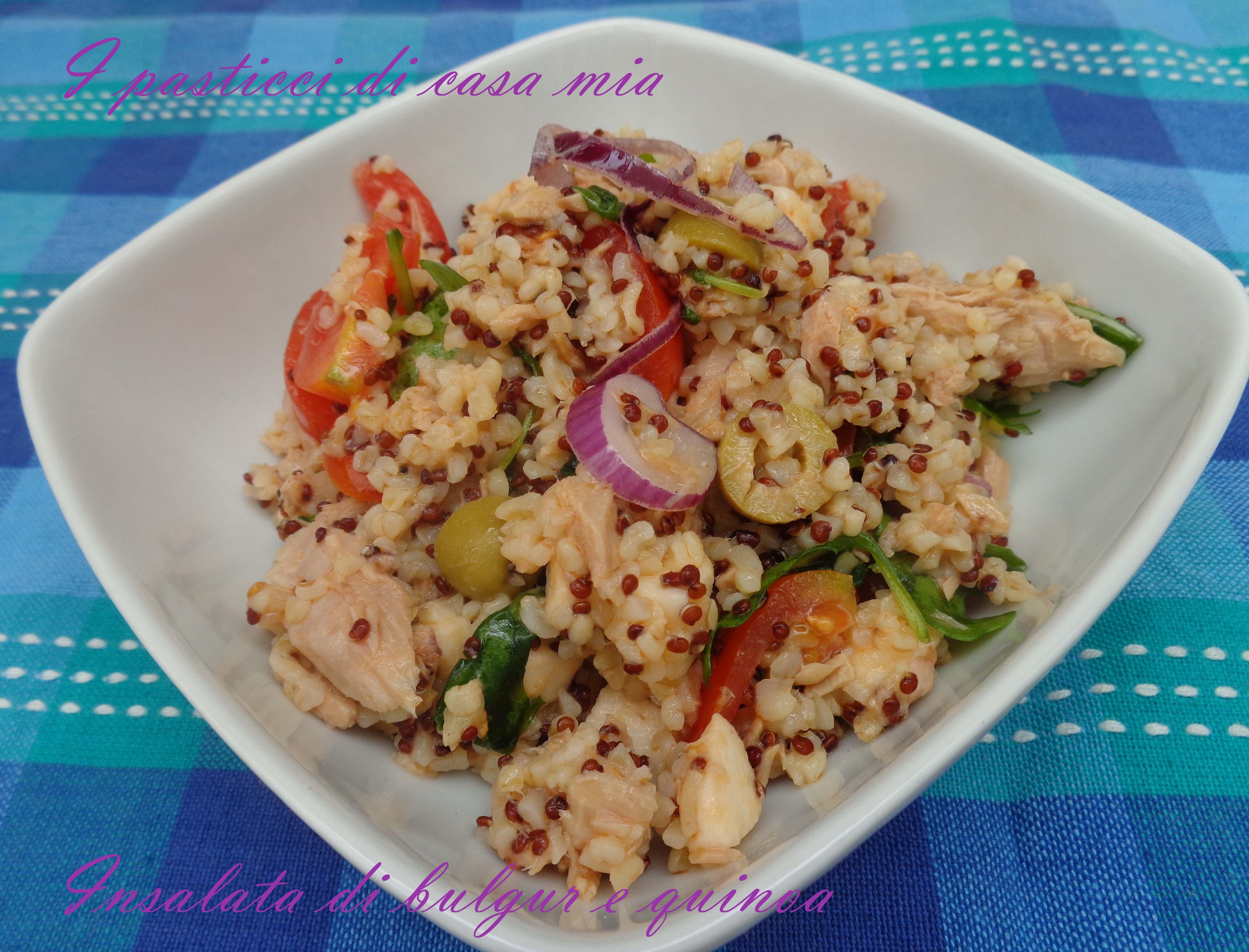 Ricetta Quinoa E Bulgur.Insalata Di Bulgur E Quinoa I Pasticci Di Casa Mia