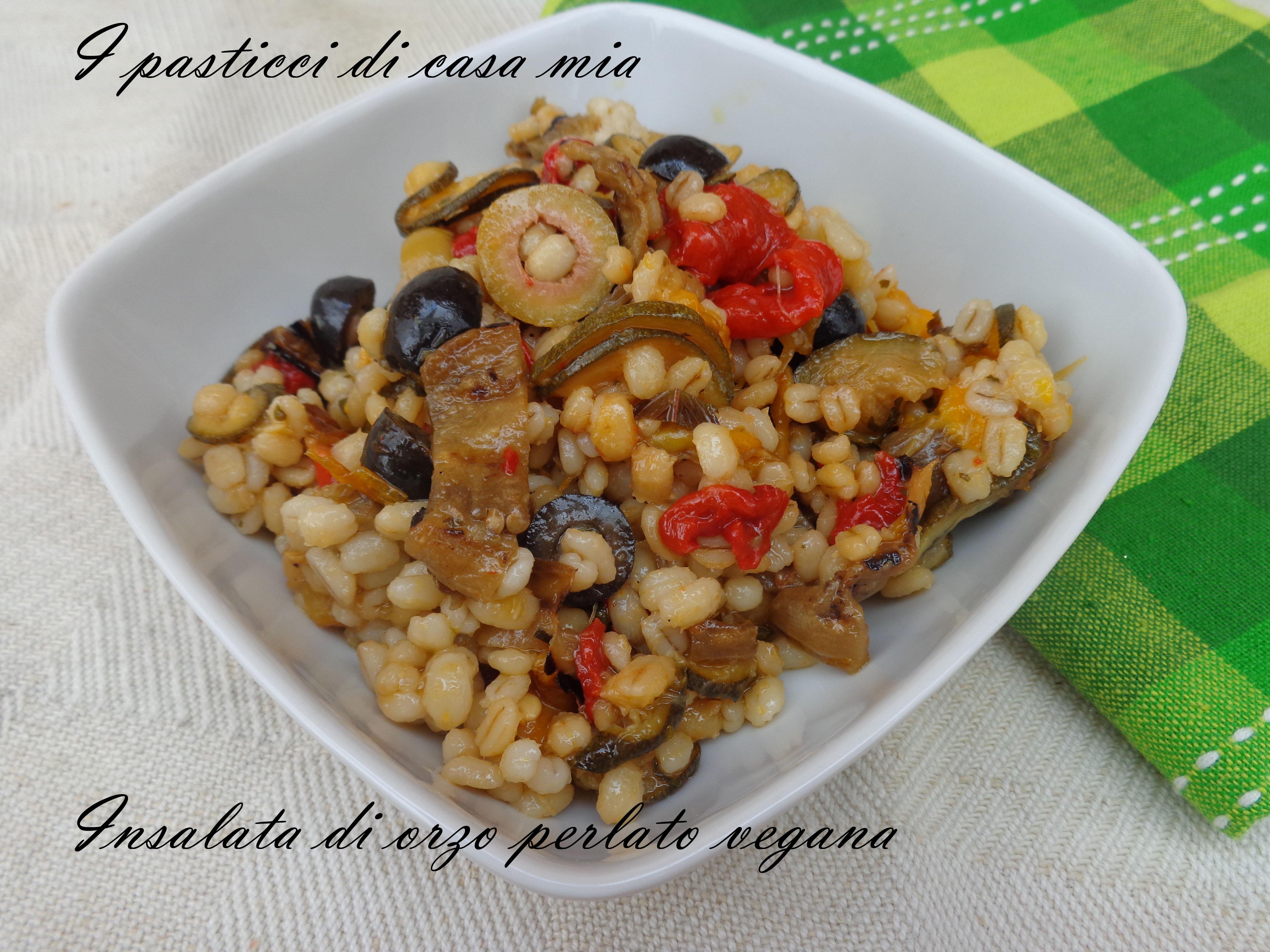 Ricette Orzo Vegetariano.Insalata Di Orzo Perlato Vegana I Pasticci Di Casa Mia