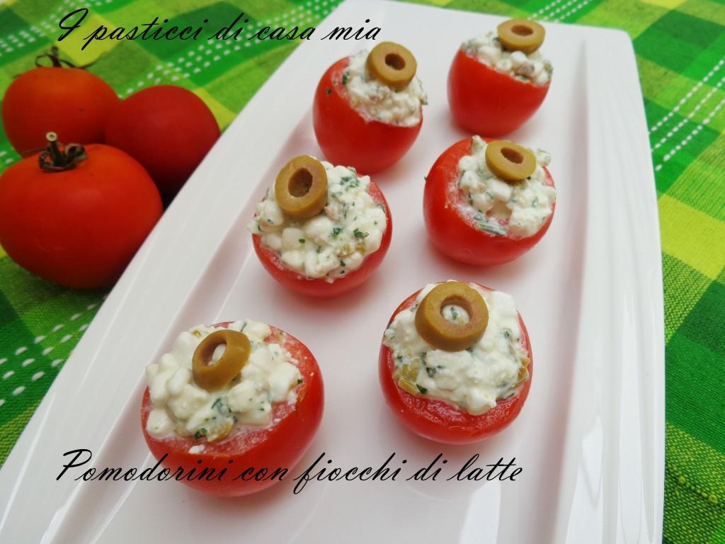 Pomodorini con fiocchi di latte