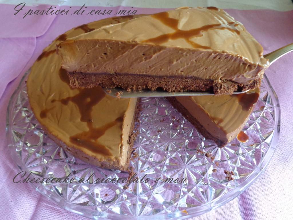 Cheesecake al cioccolato e mou