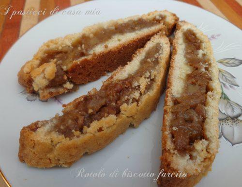Rotolo di biscotto farcito