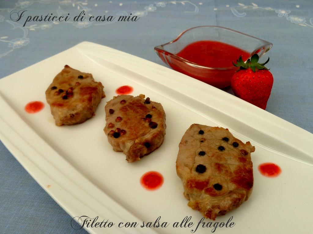 Filetto con salsa alle fragole