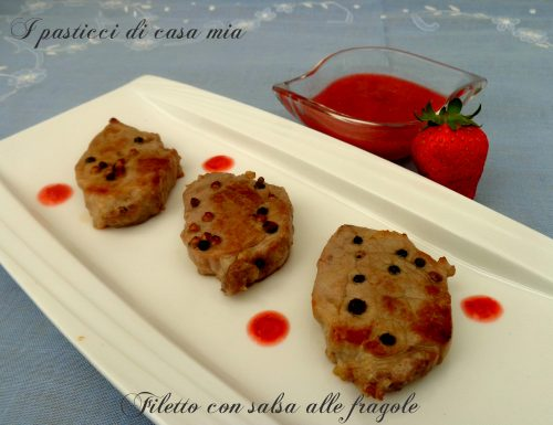 Filetto con salsa alle fragole