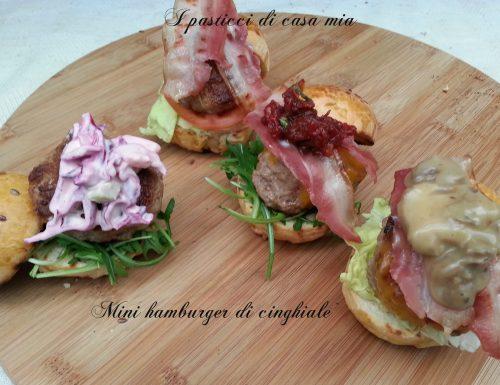Mini hamburger di cinghiale