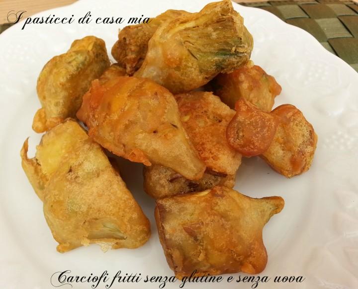 Carciofi fritti senza glutine e senza uova
