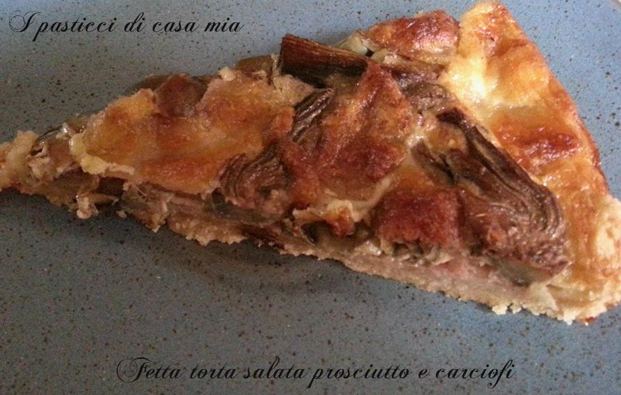 Torta salata prosciutto e carciofi