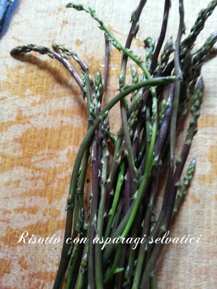 Risotto con asparagi selvatici