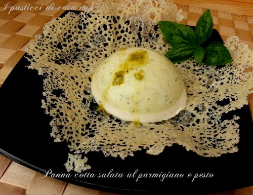 Panna cotta salata al parmigiano e pesto