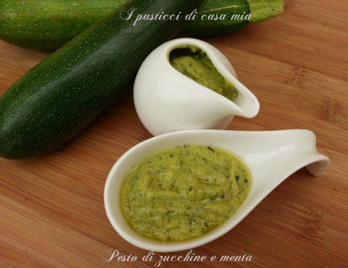 Pesto di zucchine e menta