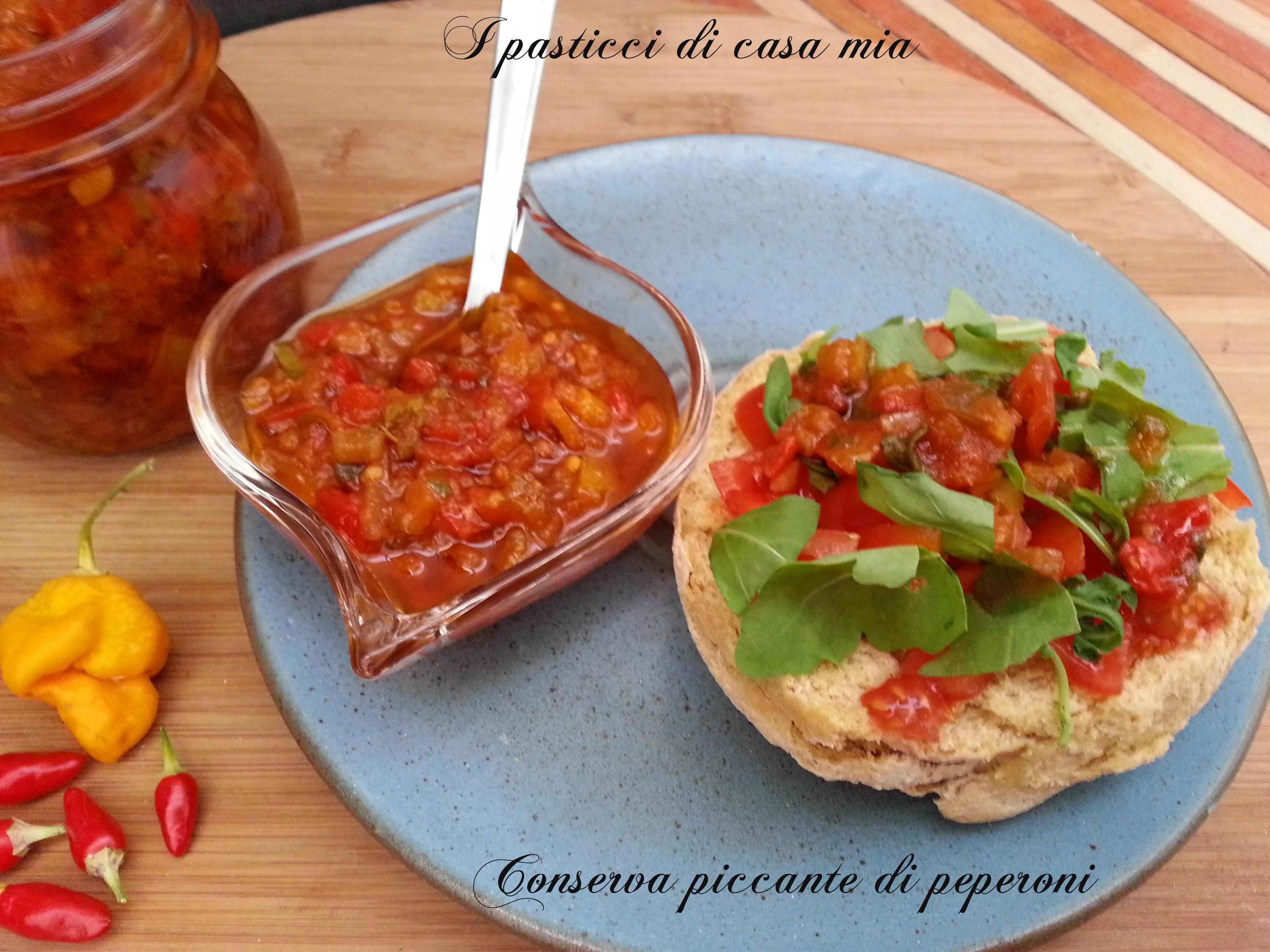 Conserva piccante di peperoni