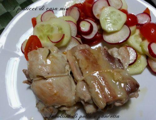 Involtini di pollo e pancetta