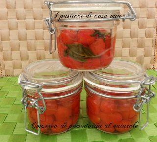Conserva di pomodorini al naturale