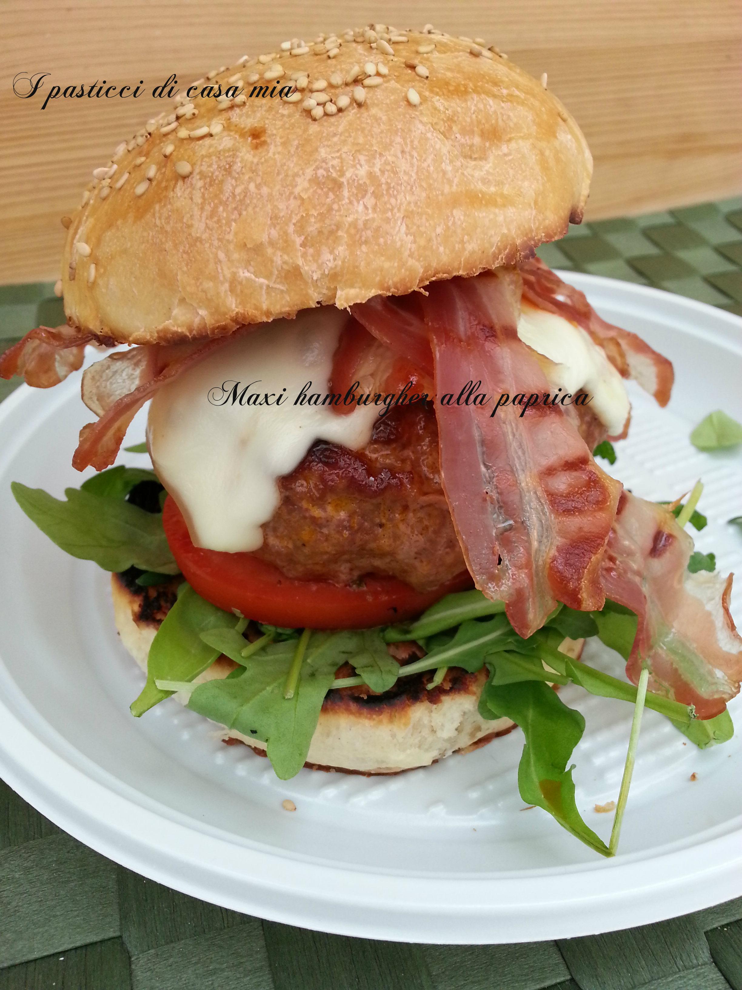 Maxi hamburger alla paprica