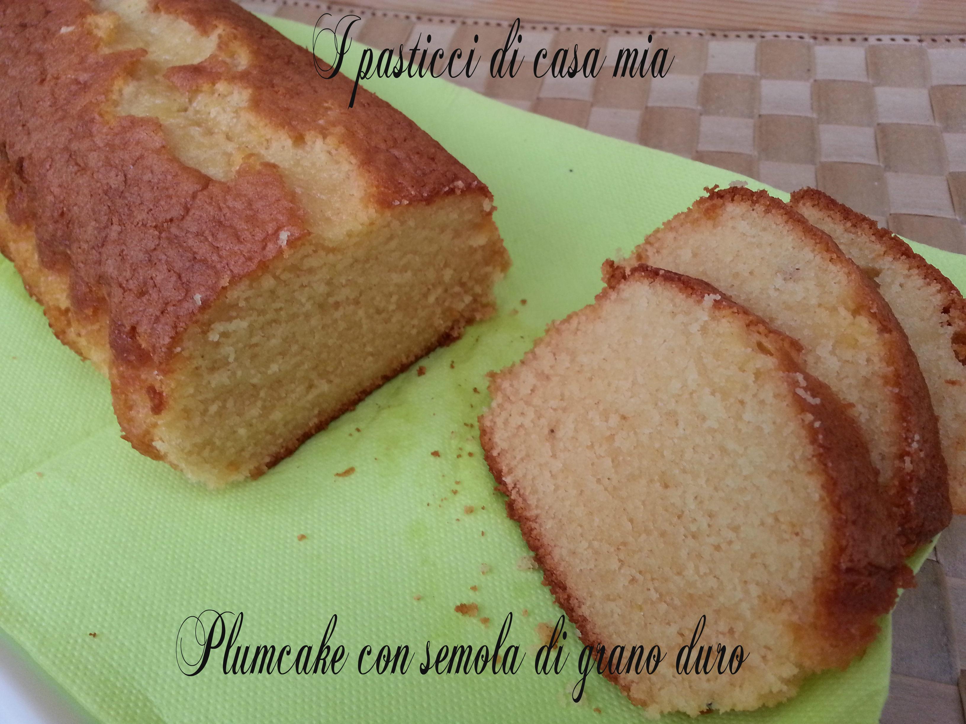 Plumcake con semola di grano duro