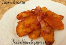 Patate al forno alla paprica e bacon