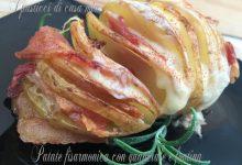Patate fisarmonica con guanciale e fontina