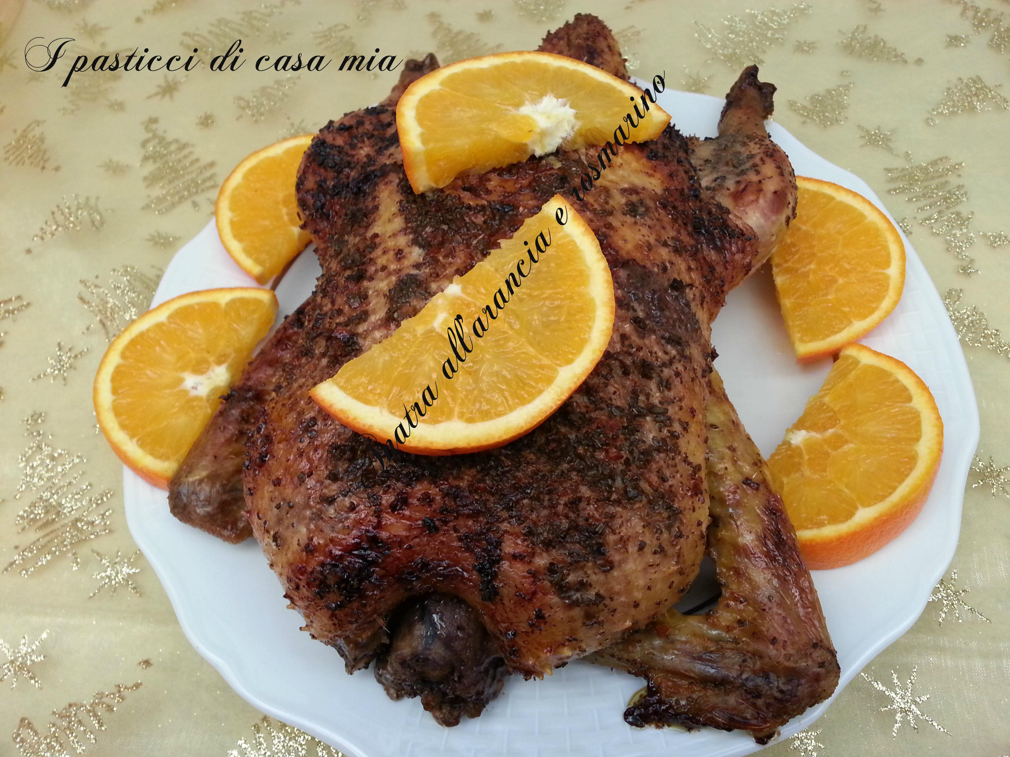 Anatra all'arancia e rosmarino