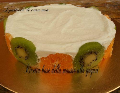 Ricetta base della mousse allo yogurt