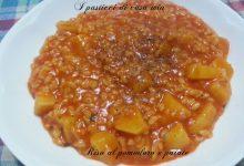 Riso al pomodoro e patate