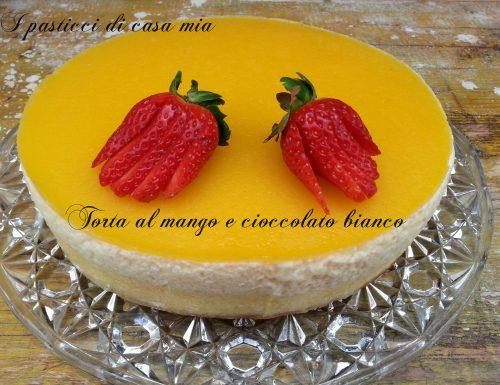 Torta al mango e cioccolato bianco