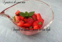Fragole al limone e menta ricetta light