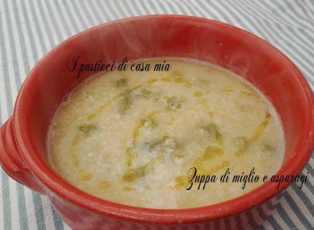 Zuppa di miglio e asparagi