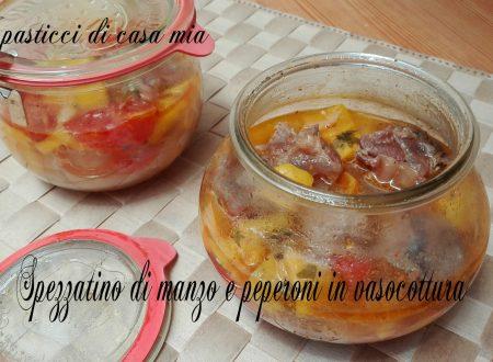 Spezzatino di manzo e peperoni in vasocottura