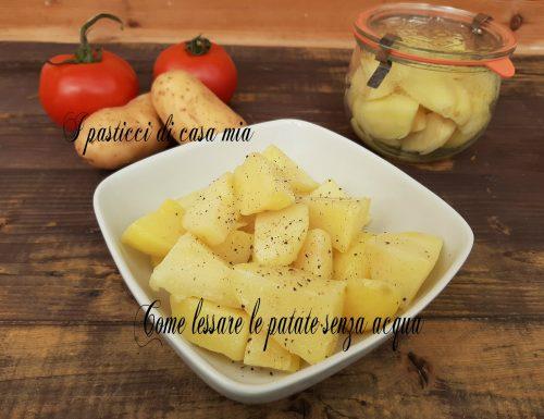 Come lessare le patate senza acqua