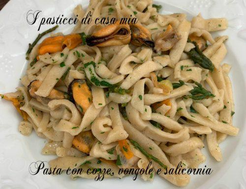 Pasta con cozze vongole e salicornia