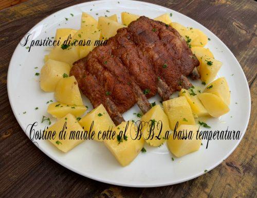 Costine di maiale cotte al BBQ  a bassa temperatura